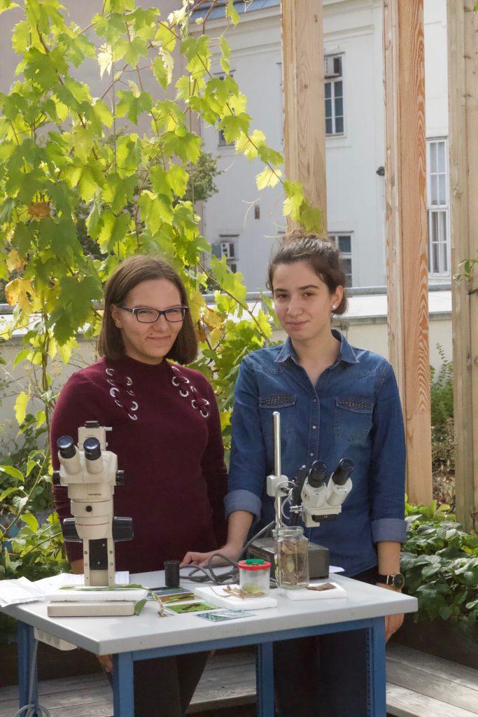 GZS_Open House Vernetzung_Schülerinnen bei der Insektenstation